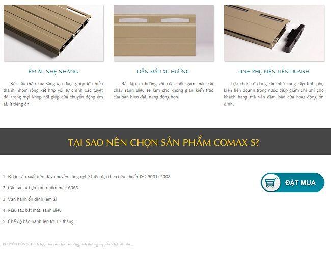 Cửa cuốn khe thoáng master-comax S 4