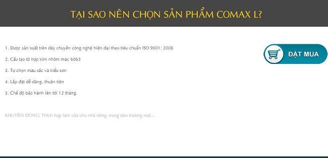Cửa cuốn khe thoáng master-comax L 5