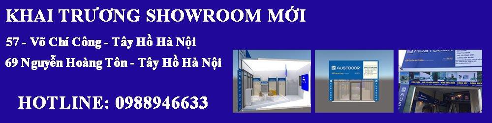 Banner showroom cửa cuốn