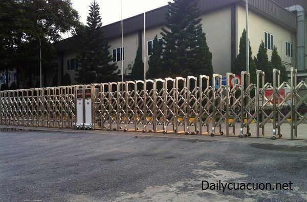 Mẫu cổng xếp Barie tự động F818 dành cho cơ quan