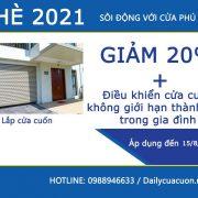 Khuyến mãi Hè 2021 khi lắp đặt cửa cuốn Phú Thành