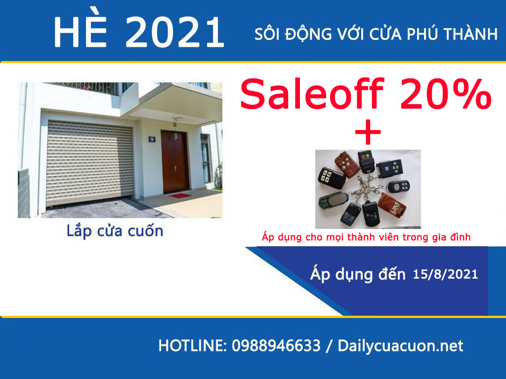 chương trình khuyến mãi cửa cuốn giá rẻ hè 2021